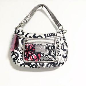Coach. Poppy graffiti hobo shoulder bag